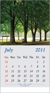 nature calendar Printing Services